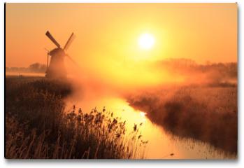 Plakat - Windmill sunrise