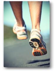 Plakat - Runnning shoes on runner