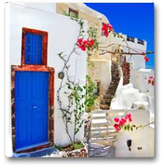 Plakat - traditional Greek islands series - santorini