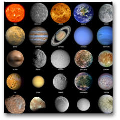 Plakat - The solar system