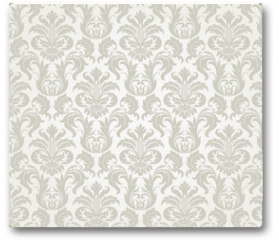 Plakat - Vector seamless floral damask pattern