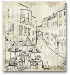 Plakat - Street cafe