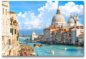 Plakat - Venice, view of grand canal and basilica of santa maria della sa
