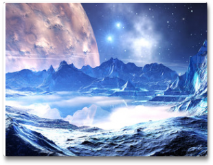 Plakat - Distant planet in the grip of winter