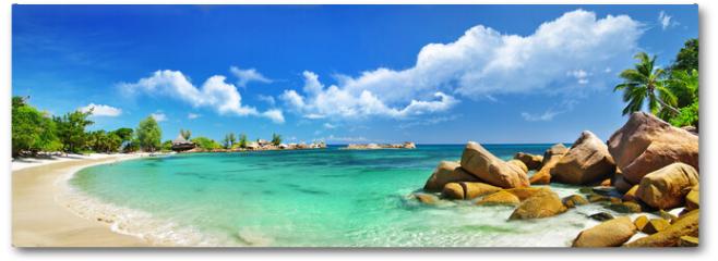 Plakat - Seychelles , beach panorama