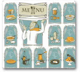 Plakat - cook and eleven different dishes