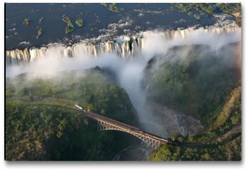 Plakat - Cascate vittoria Zambia