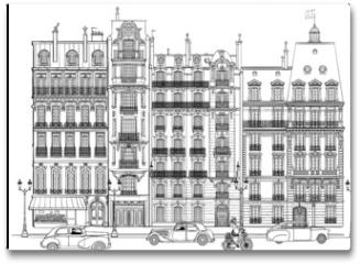 Plakat - Paris - Facades