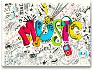 Plakat - Music Doodle