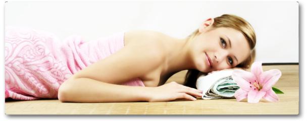 Plakat - relaxing in spa