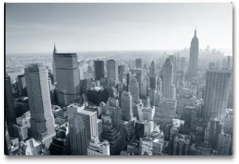 Plakat - New York City skyline black and white