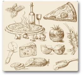 Plakat - pizza background