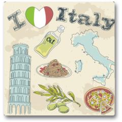 Plakat - Italy travel grunge card
