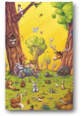 Plakat - niños leyendo
