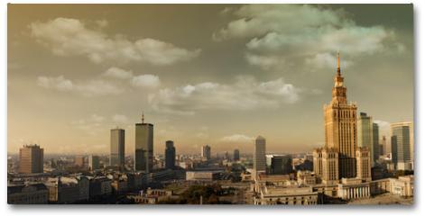 Plakat - Warsaw panorama