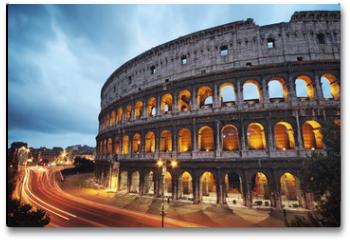 Plakat - Coliseum at night. Rome - Italy