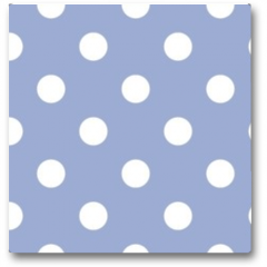 Plakat - Retro seamless vector pattern with polka dots, blue background