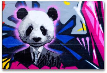 Plakat - Suited panda