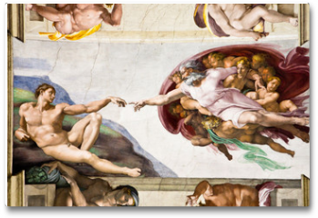 Plakat - Creation of Adam by Michelangelo, Sistine Chapel, Rome