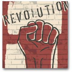 Plakat - Revolution! vector illustration, EPS10