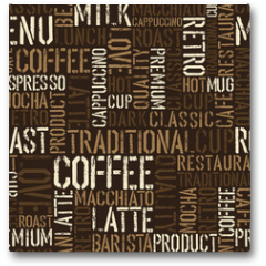 Plakat - Seamless coffee experience pattern. Vector, EPS8.