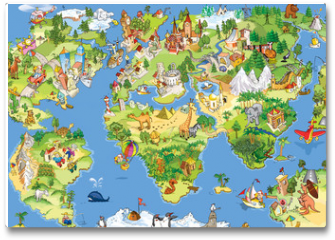 Plakat - Great and funny world map