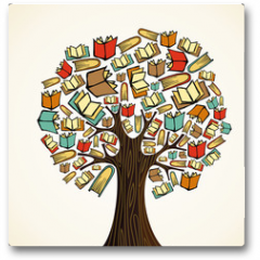 Plakat - Education concept tree with books