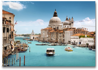 Plakat - Grand Canal and Basilica Santa Maria della Salute, Venice, Italy