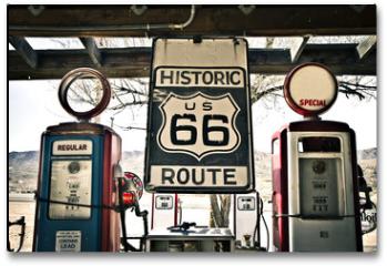 Plakat - Hisotric Route 66