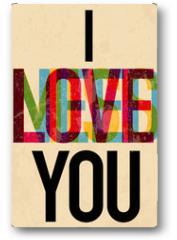Plakat - Valentine's Day type text calligraphic