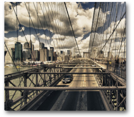 Plakat - Brooklyn Bridge view, New York City