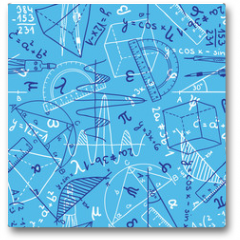 Plakat - Mathematics seamless pattern