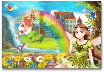 Plakat - The fairy - Beautiful Manga Girl - illustration