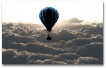 Plakat - air balloon on sky