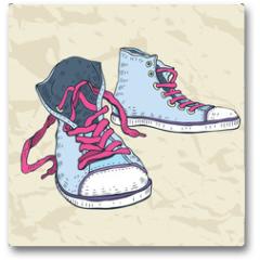 Plakat - Sport shoes. Sneakers.