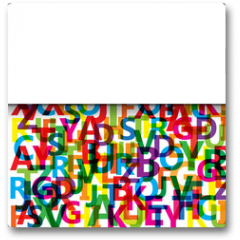 Plakat - Vector Abstract Colour Alphabet