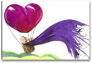 Plakat - balloon flight