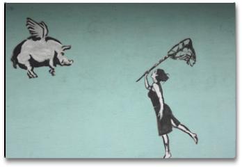 Plakat - fliegende schweine