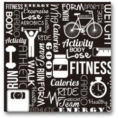 Plakat - fitness vector
