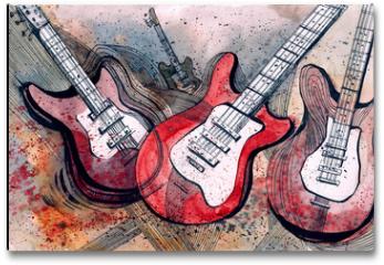Plakat - guitar music