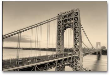 Plakat - George Washington Bridge black and white