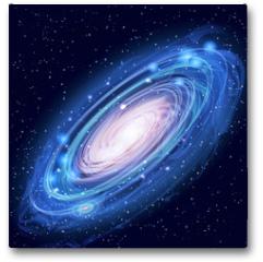 Plakat - Beautiful Glowing Vector Andromeda Galaxy