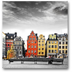 Plakat - Stockholm, heart of old town,