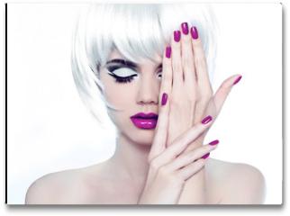 Plakat - Makeup and Manicured polish nails. Fashion Style Beauty Woman Po