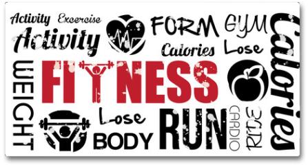 Plakat - fitness