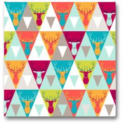 Plakat - Hipster style seamless pattern.