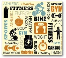 Plakat - fitness pattern