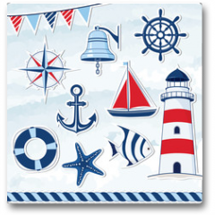 Plakat - Nautical design elements