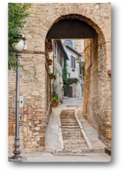 Plakat - ancient alley in Bevagna, Italy