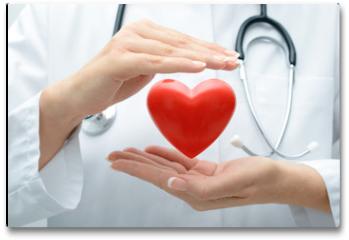 Plakat - Doctor holding heart